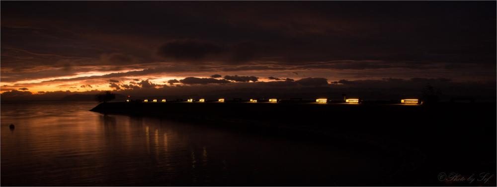 L'éclairage des bancs de la digue