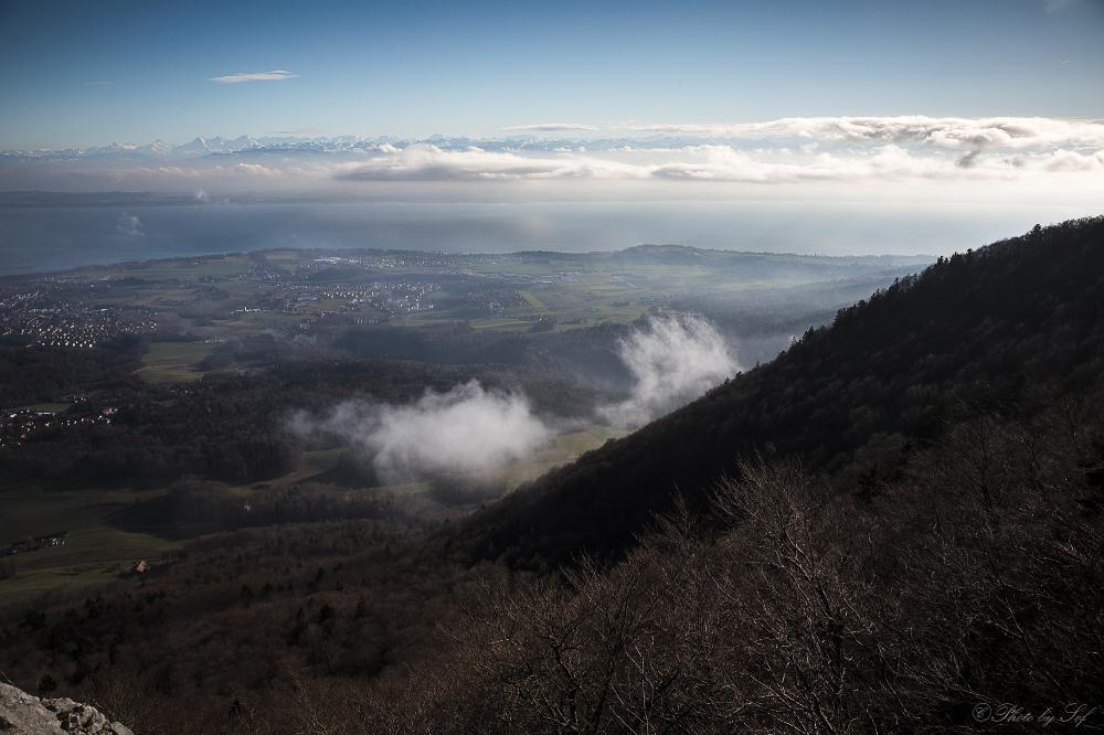 Les Alpes depuis le Jura (2)