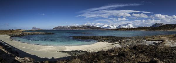 Sur l'île de Kvaloya