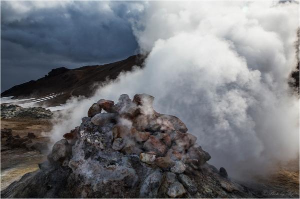 Fumerolle à Hverarond