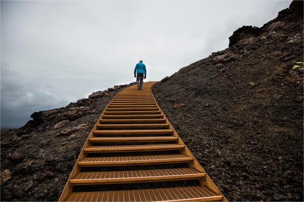 L'escalier orange