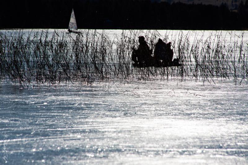 Spectacle sur lac gelé