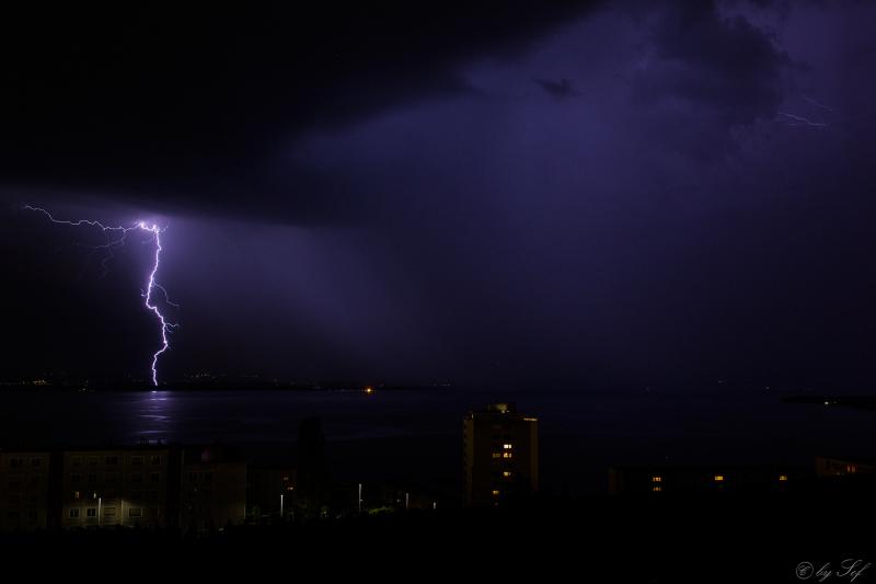 Orage passe sur Neuchâtel