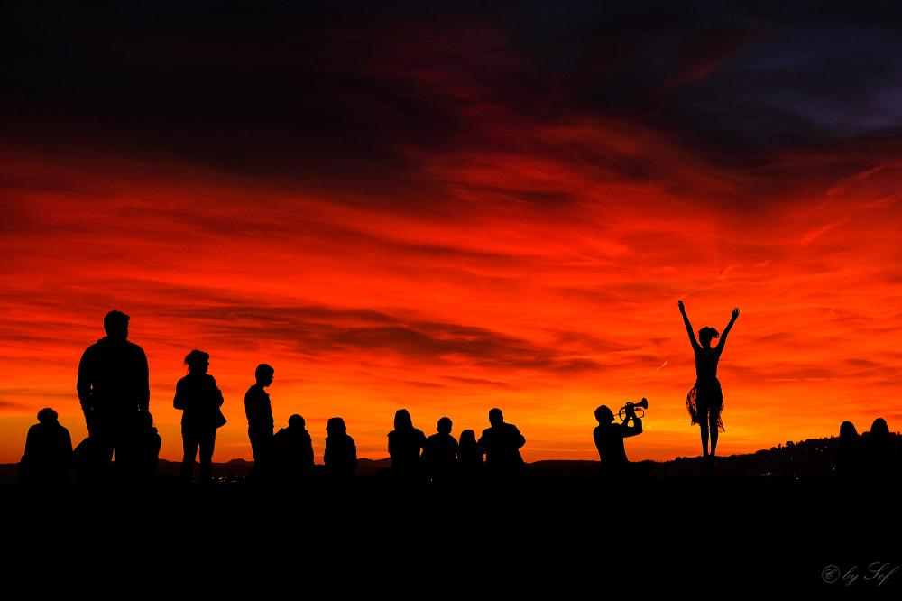 Hommage au coucher du soleil