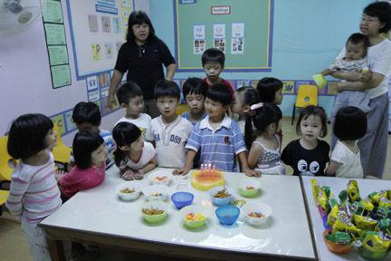 Sam's 4th Birthday - in school