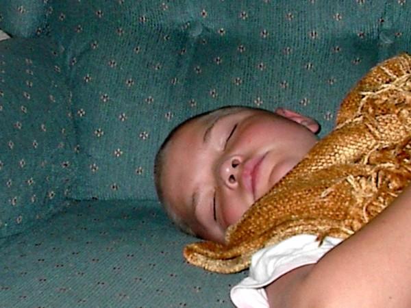 Joshua sleeping at Nana's house :o)