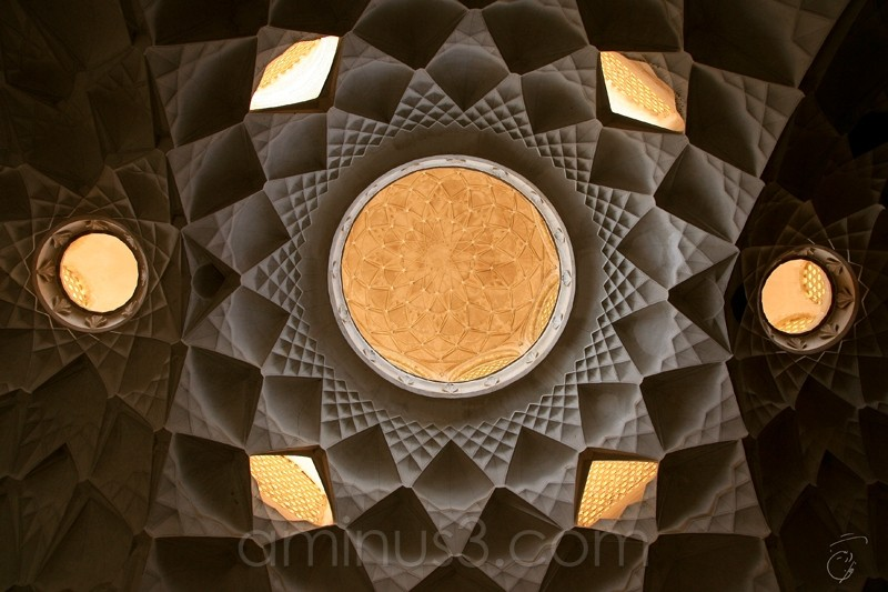 Ceiling of a old house in Kashan