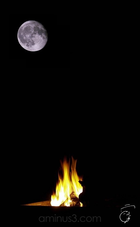 Fire, Moon, Night