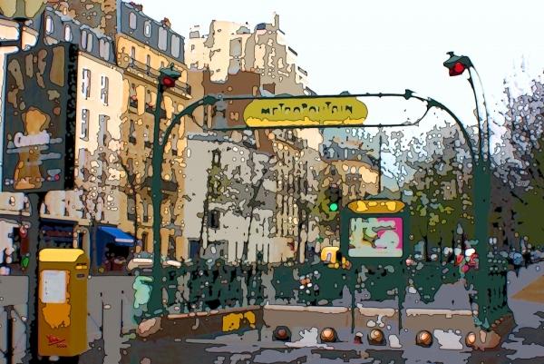 "Paris, metro ""Raspail"""