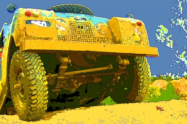 Land Rover Serie IIA in action