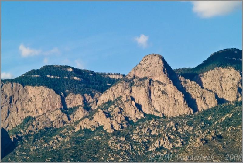 Dome Rock, part of the Sandia Mts. Albuquerque.