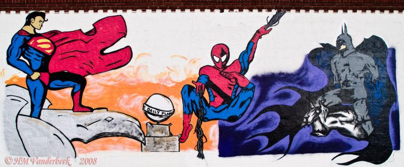 Superman, Spiderman and Batman