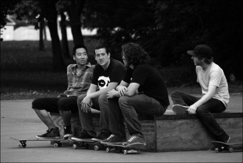 justin skateboarding