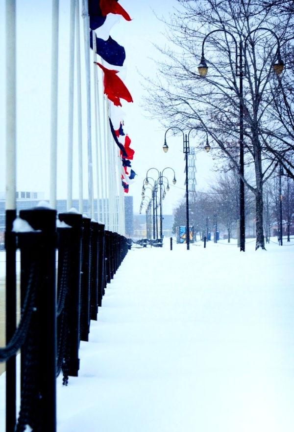 promenade park in winter