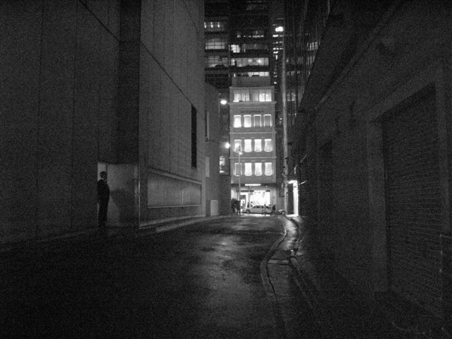 man in alley