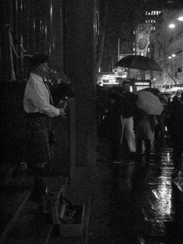 piper in the rain