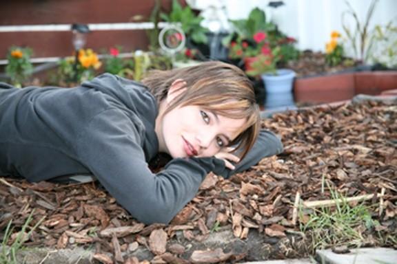 Kayla at the pond