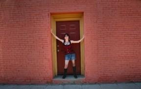 girl in door way