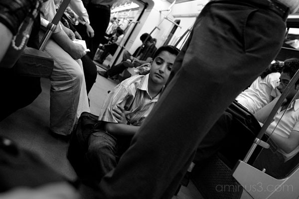 Young Boy In Tehran Subway
