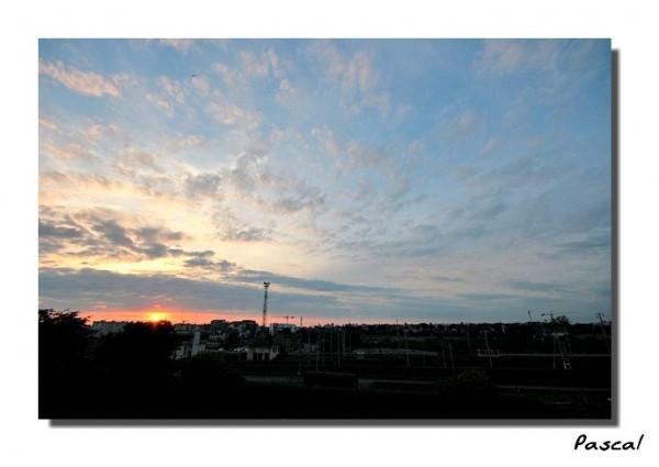 Couché de soleil sur la gare de triage - Rennes