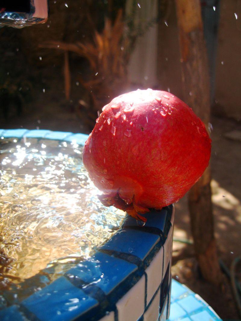pommegranate water fresh
