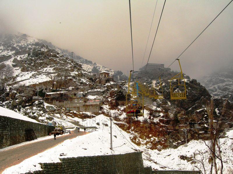 first snow darband tehran telesiege