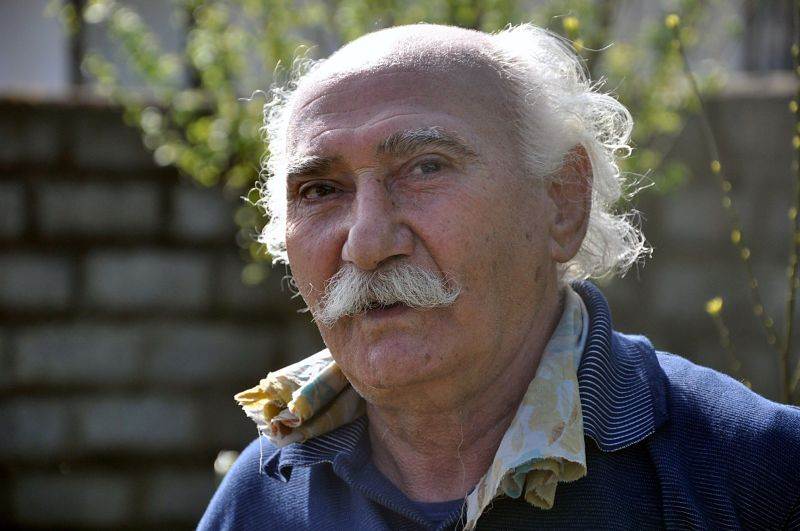 portrait glass old man