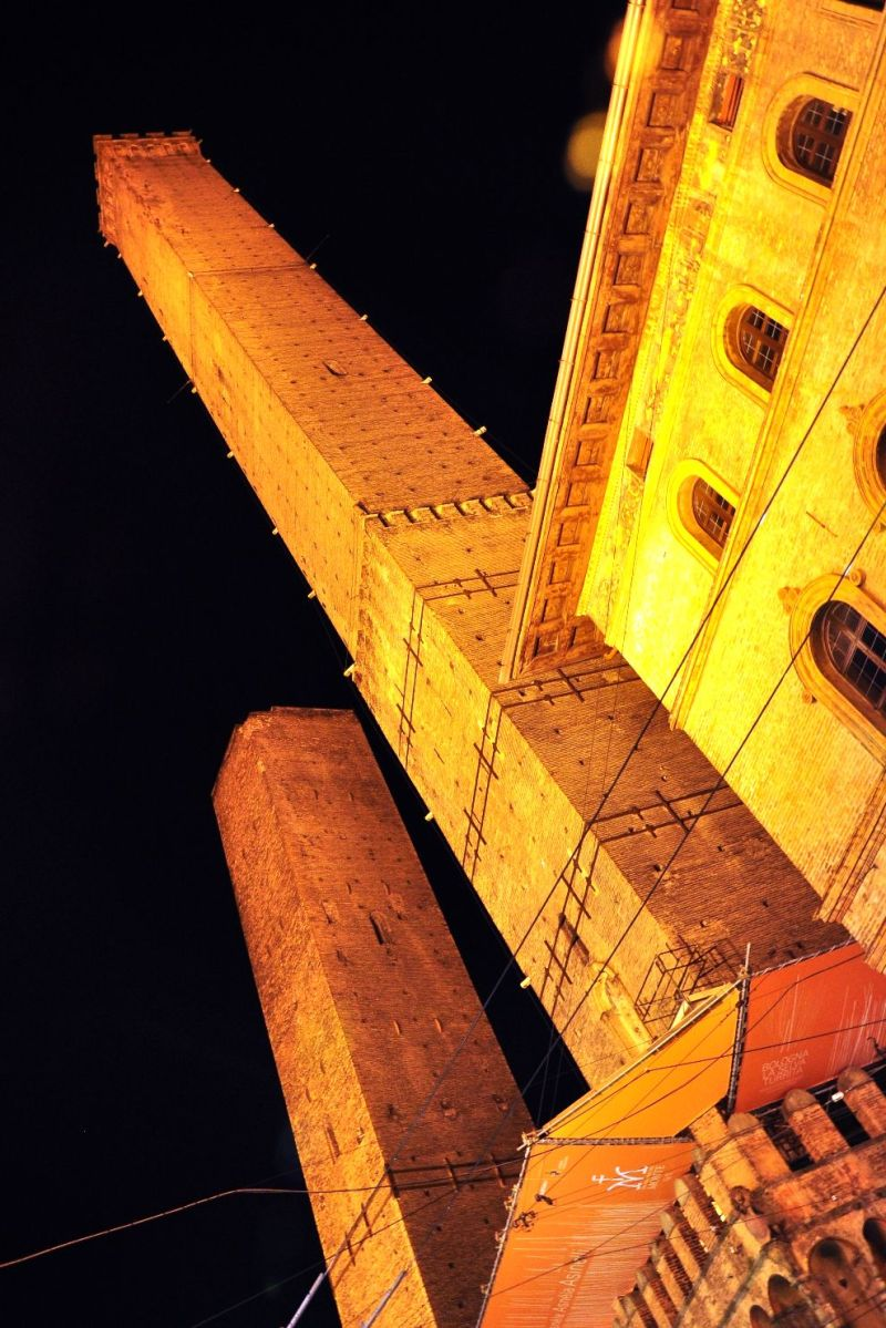 leaning towers bologna italy