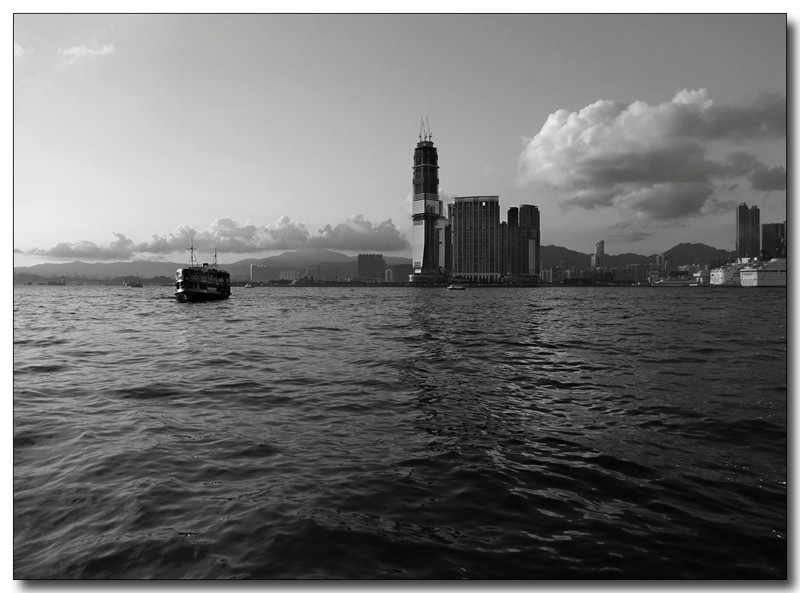 the star ferry & victoria harbour