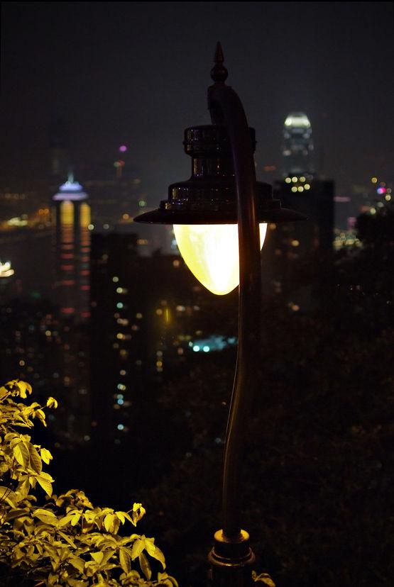an old street lamp...