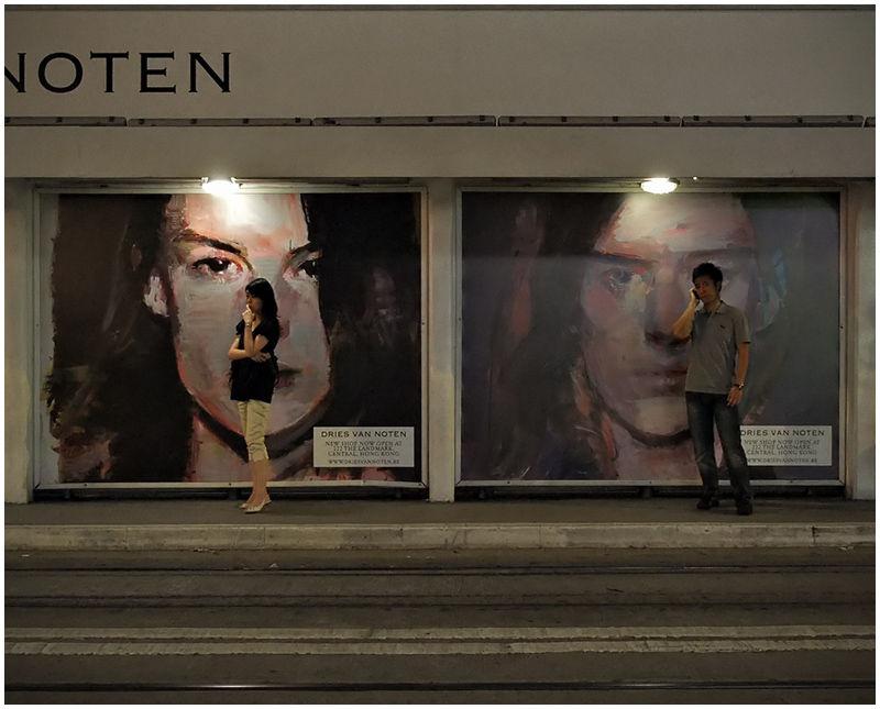 tram stop solitude... (ii)