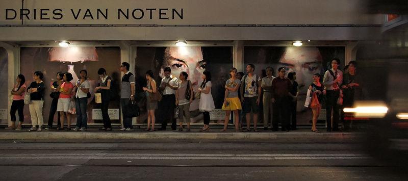 """tram stop """"solitude""""... (iii)"""