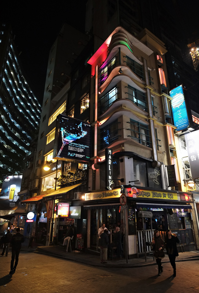 """friday night colours"" (lan kwai fong)"