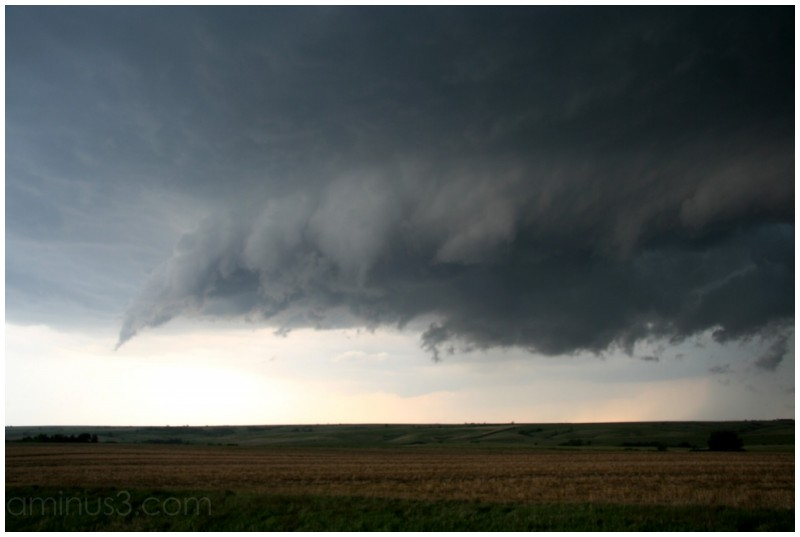 Rotating wall cloud