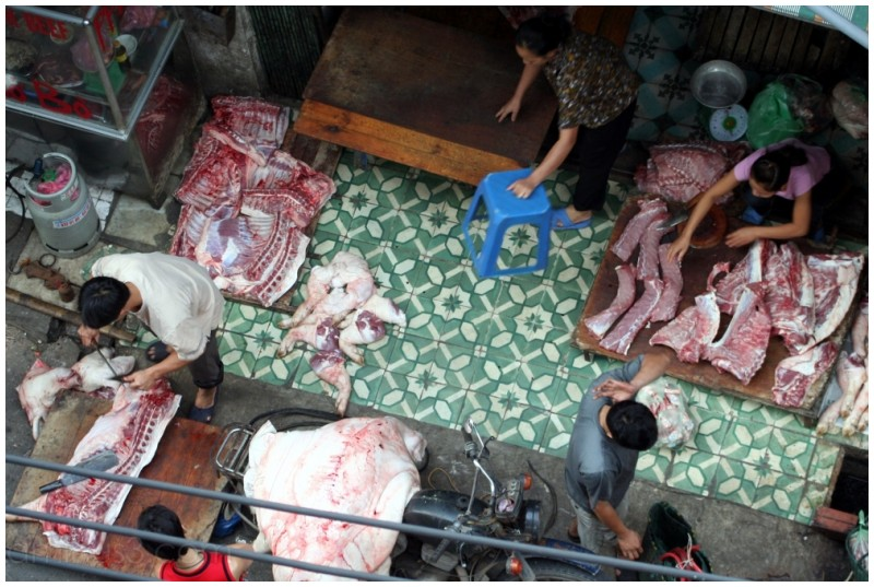 Streetside butcher - Vietnam