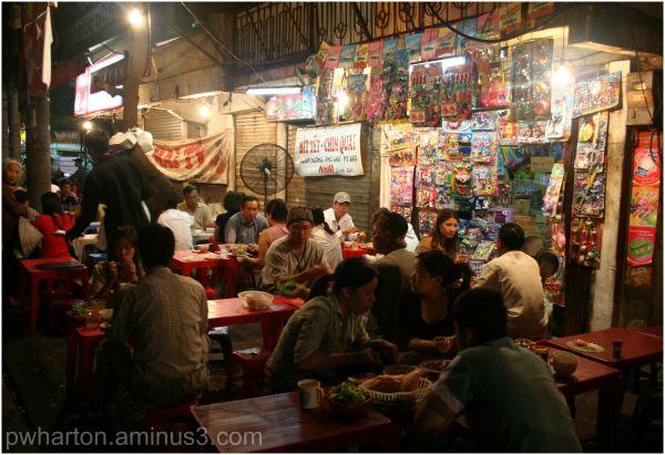 Streetside restaurant - Vietnam
