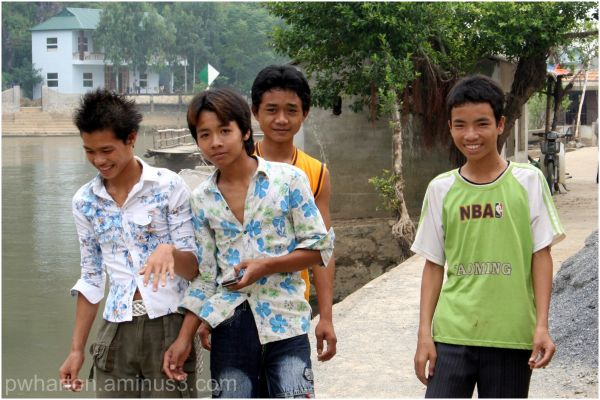 Young men about town - Keng Ga, Vietnam