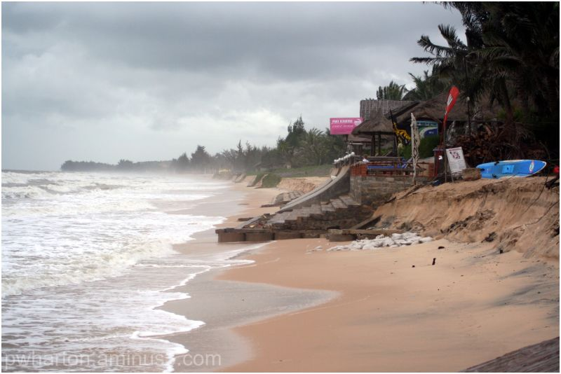 Beach at Mui Ne - Vietnam (after cyclone)