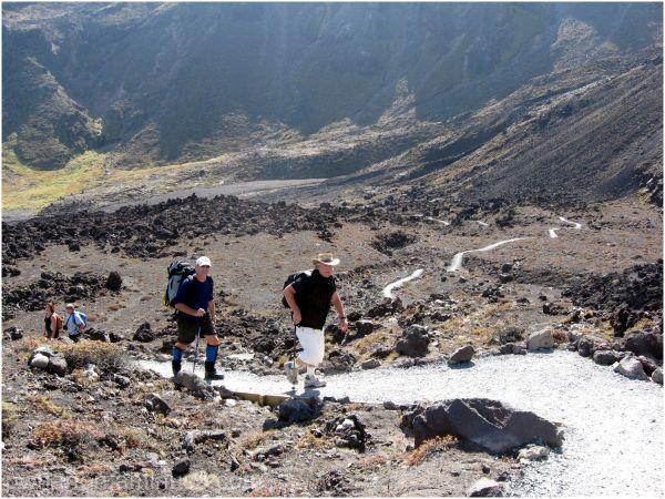 Walking track Tongariro Crossing
