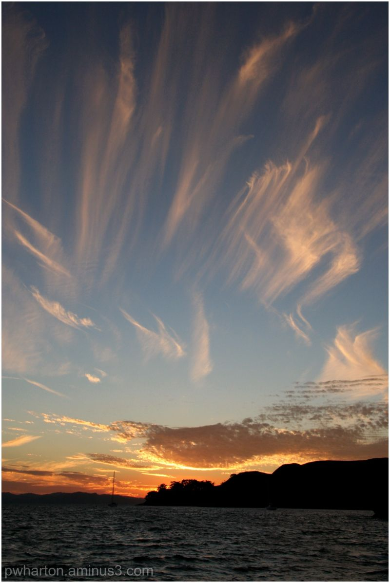 Mare's tails at sunset - Mercury Islands, NZ