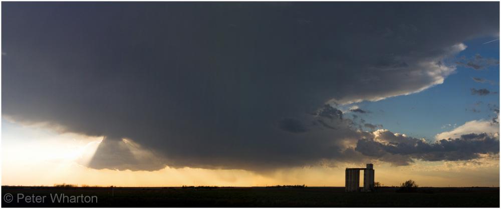 Thunderstorm near Greensburg, Kansas