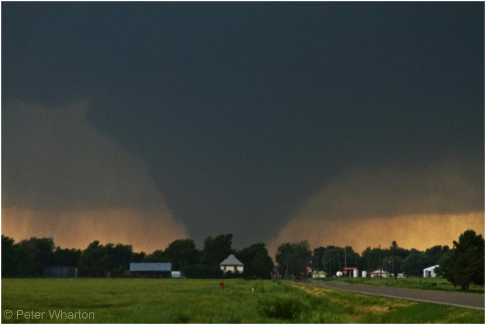Tornado near Bennington, Kansas