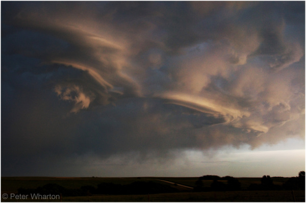 Mesocyclone near Catesby, Oklahoma