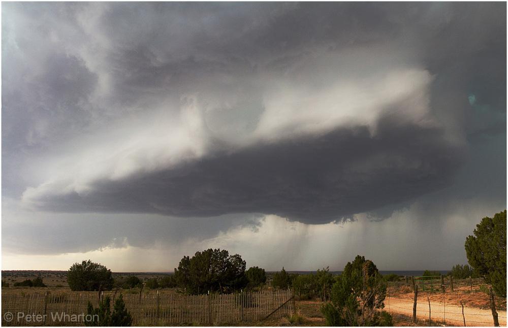 Updraft base near Santa Rosa, New Mexico