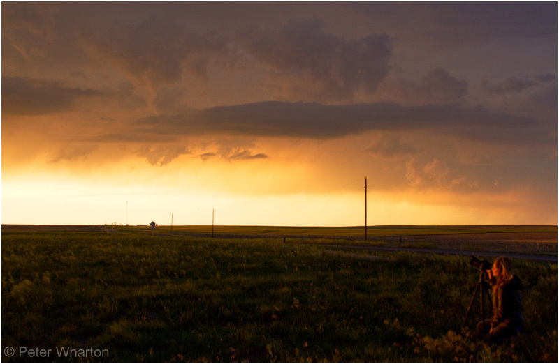 Sunset near Sterling, Colorado