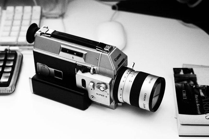 super8 cameras light indoor