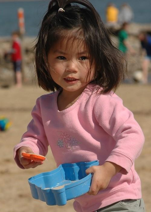 Ellie at the beach