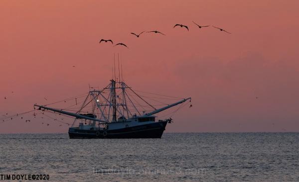 Shrimp Boat off the coast of South Carolina