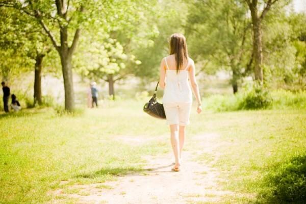 Image of a girl walking.