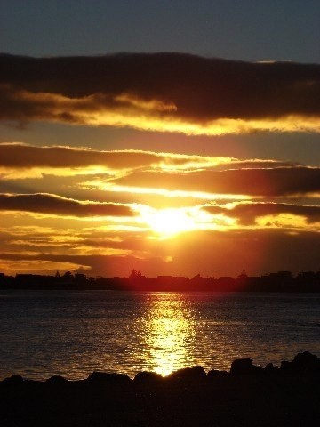 Sunrise over Pacific